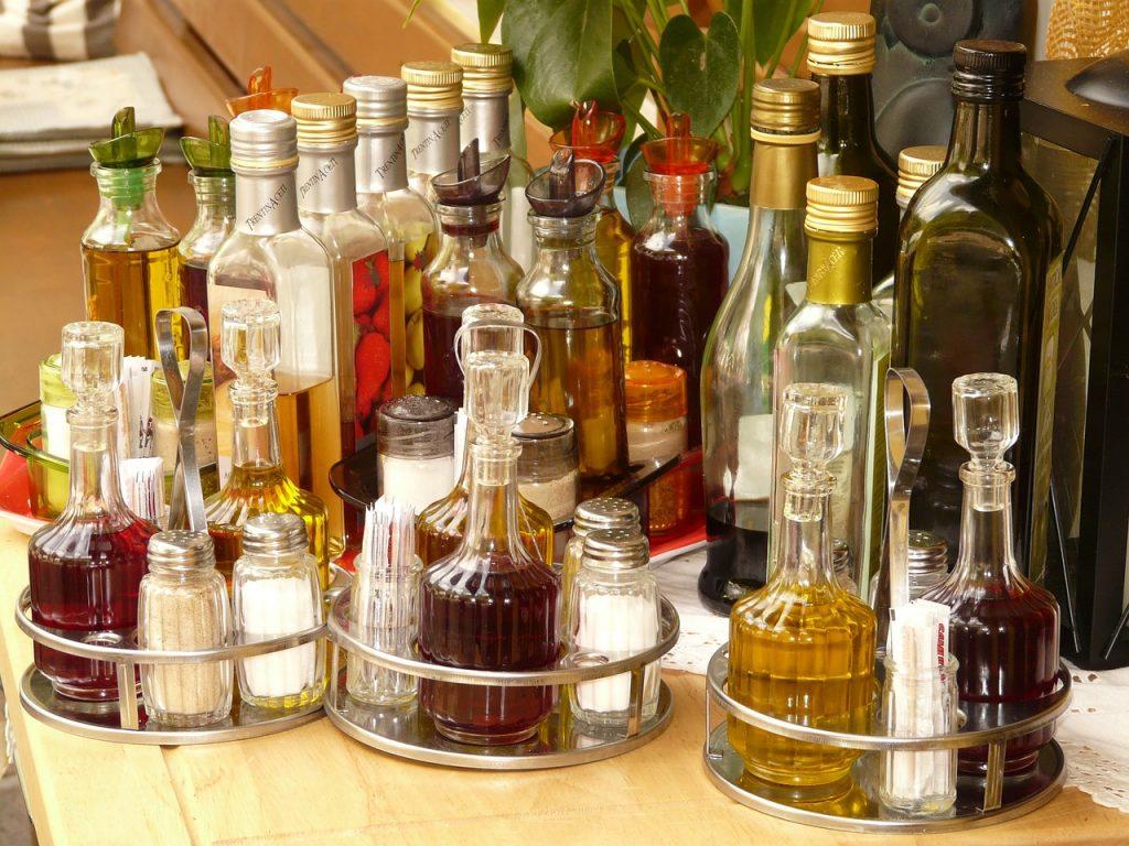 différentes variétés de vinaigre