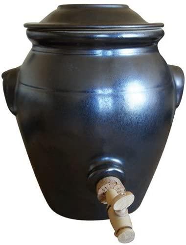 vinaigrier en céramique de digoin gris ardoise de 4 litres